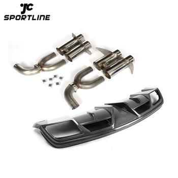JC-XP308 JC-XP309 Carbon Fiber Rear Bumper Diffuser Lip for Mercedes-Benz CLA-Class C117 CLA250 CLA260 CLA45 AMG Sedan 2013 2014 Exhaust