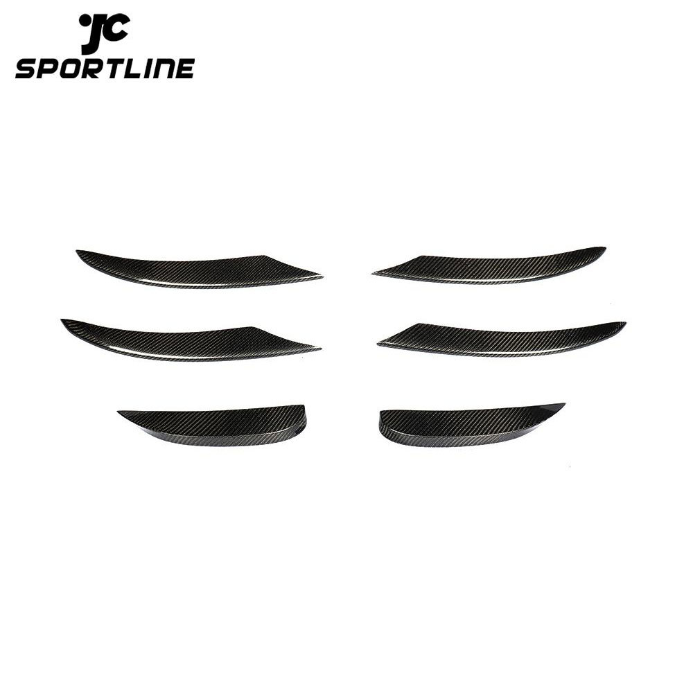 JC-HLY280-CF Carbon Fiber NEW C-Class W205 Facelift Front Canards for Mercedes Benz W206 C300 Sport 2019 2018