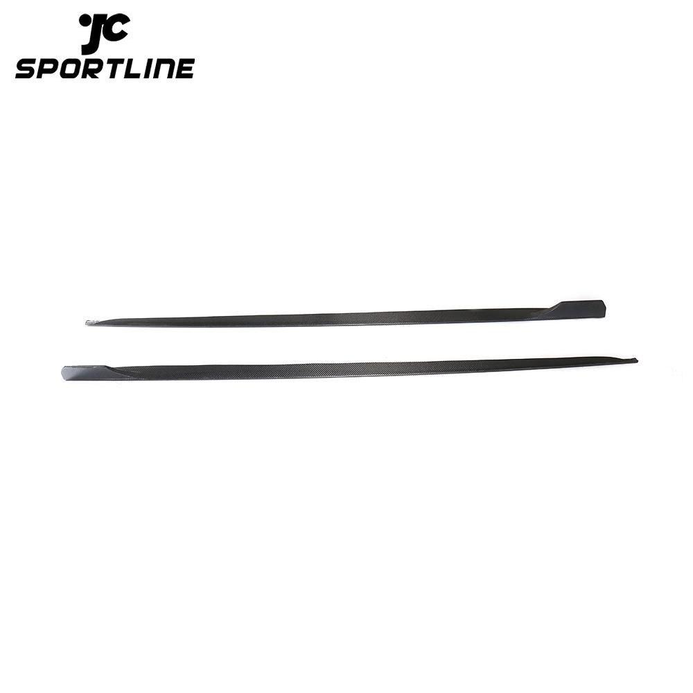ML-LQ014 S5 Side Door Skirts Carbon Fiber Extension for Audi S5 B9 A5 SLINE Sportback 4-Door 2017 2018 2019