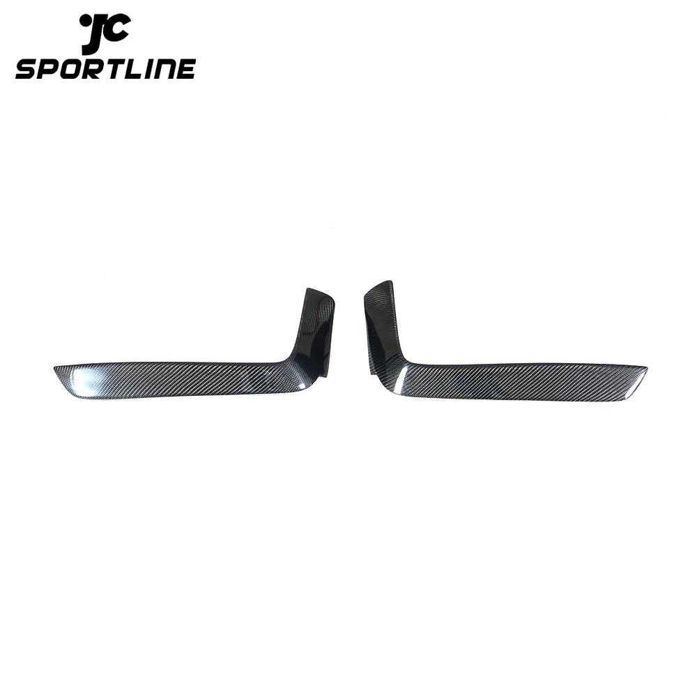 JC-HLY263 Carbon Fiber F32 Front Canards Fog Lamp Vents for BMW F33 F36 430i M Sport 2014-2019