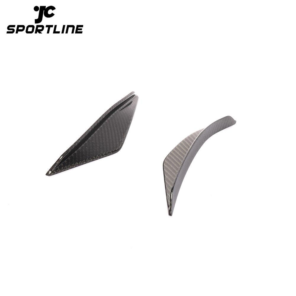 ML-XN005 Carbon Fiber C197 Car Bumper Front Canards Fins for Mercedes Benz R197 SLS AMG GT 2010-2014