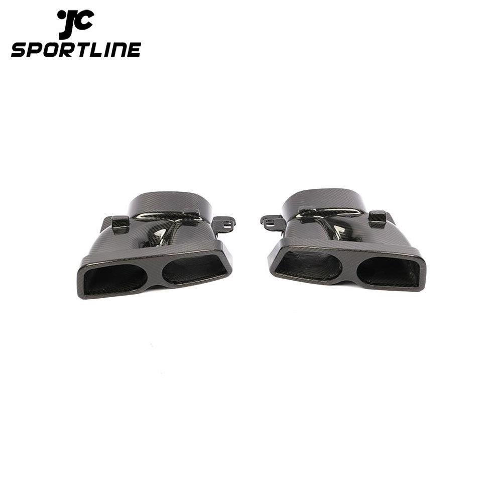 ML-ZDH015 Dry Carbon Fiber W205 Tail Muffler Exhaust Pipes for Mercedes Benz W213 W218 W222 GLE GLC CLA 2019