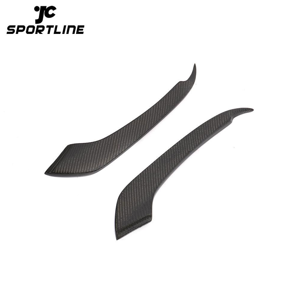 JC-HLY056 Carbon Fiber Front Fog Lamp Flats Trim for Ford Mustang GT Shelby GT350R Coupe 2-Door 15-17
