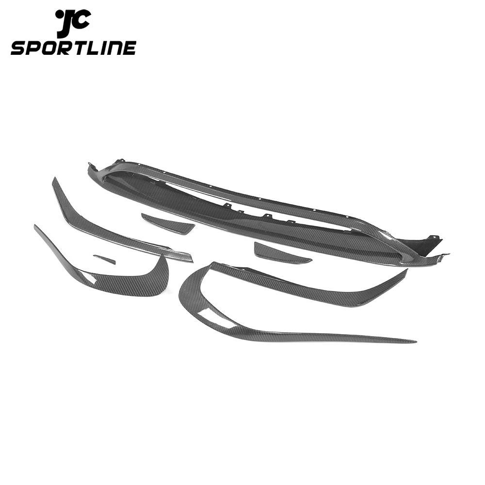 JC-ZYY097-CF Carbon Fiber A45 Front Valance Lip with Canards for Mercedes Benz W176 A250 AMG Style 2013-2018