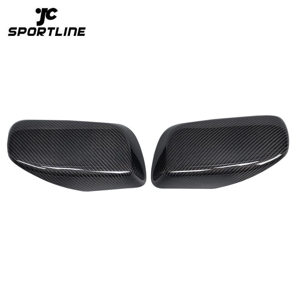 JC-BME600534  Replacement Styling Carbon Fiber Car Side Rearview Mirror Covers Caps for BMW 5 Series E60 2005 - 2008
