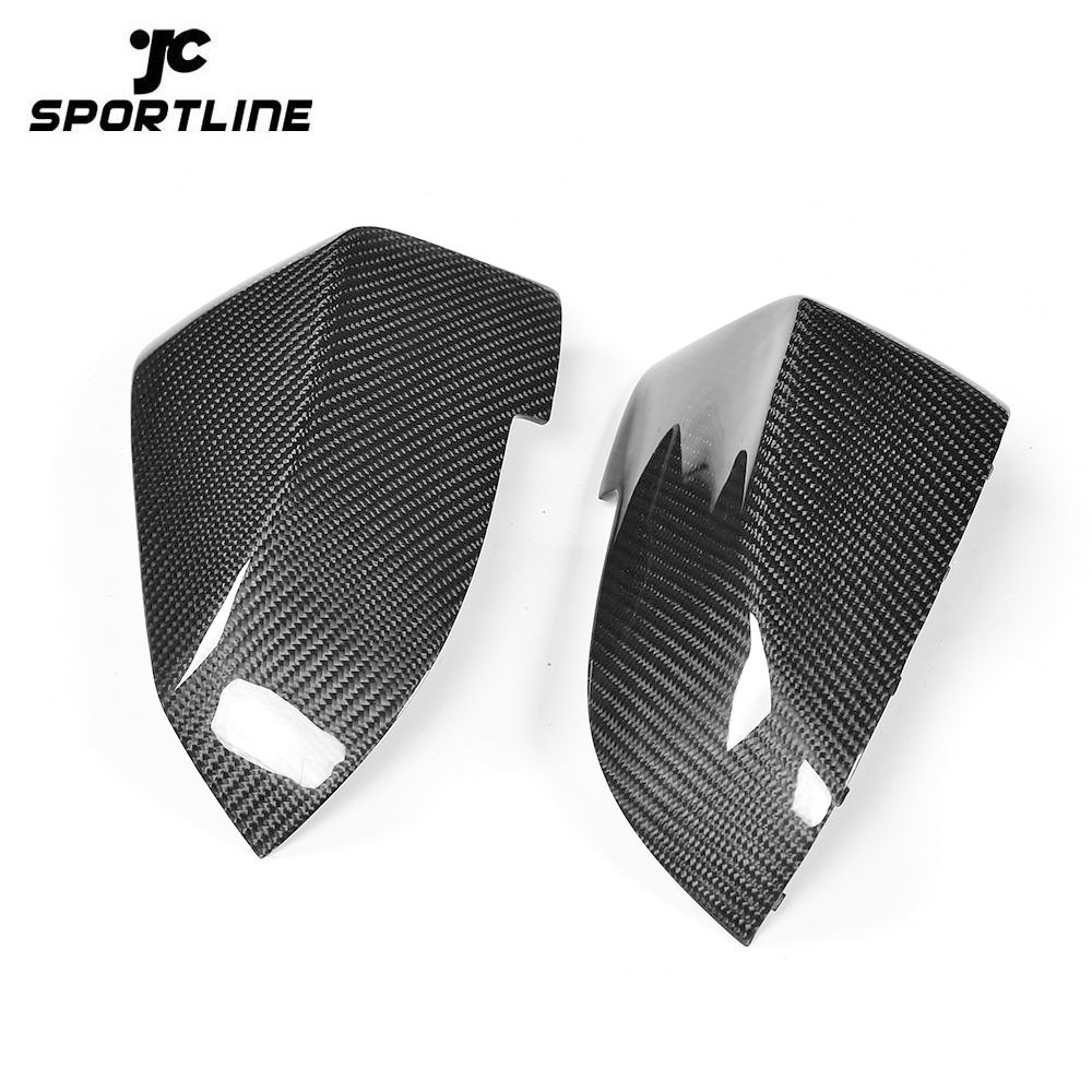 JC-JK018-1  Replacement Carbon Fiber Racing Rear View Side Mirror Covers for BMW 5 6 7 Series F10 F06 F12 F01 F02 2014 - 2016