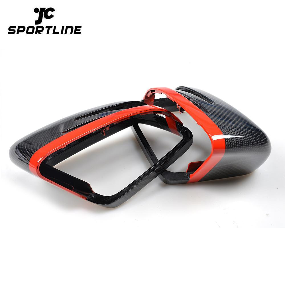 JC-M014  Carbon Fiber Car-Styling Replacement Racing Side Rearview Mirror Covers Caps for Benz W204 W212 W218 W176 W207