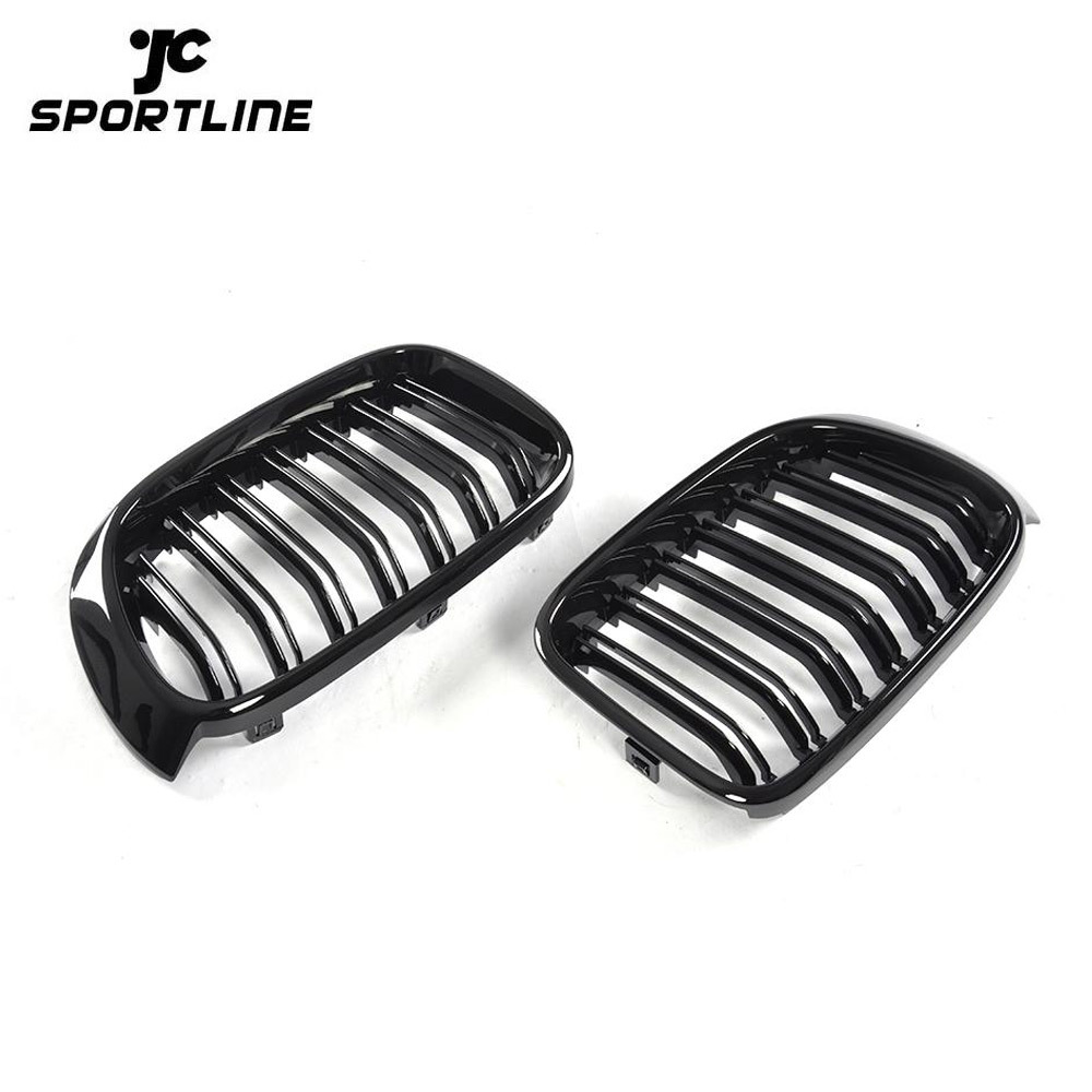 JC-XX33  Black ABS X3 X4 Front Car Grille for BMW F25 F26 xDrive35i xDrive28i 14-17