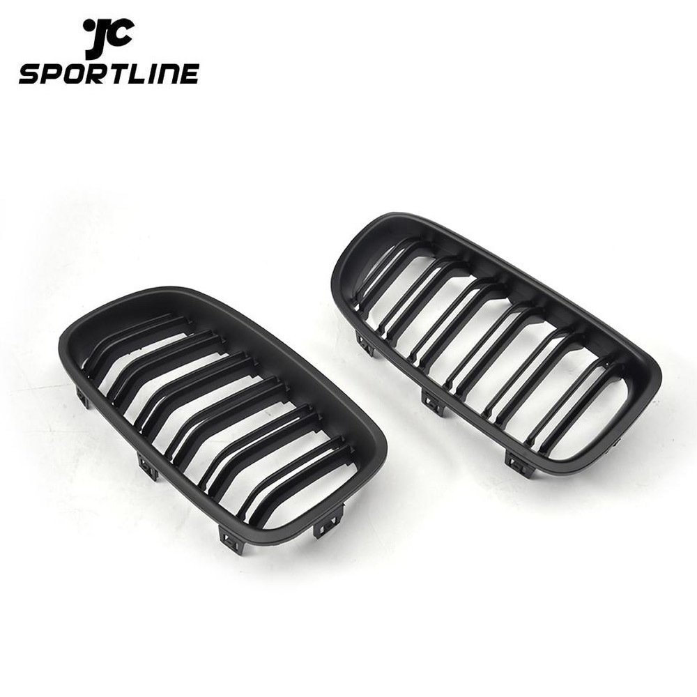 JC-XP500-1  Glossy Black ABS M3 Dual Slats Style F30 Front Car Grille for BMW F31 325i 320i 328i 335i 12-18