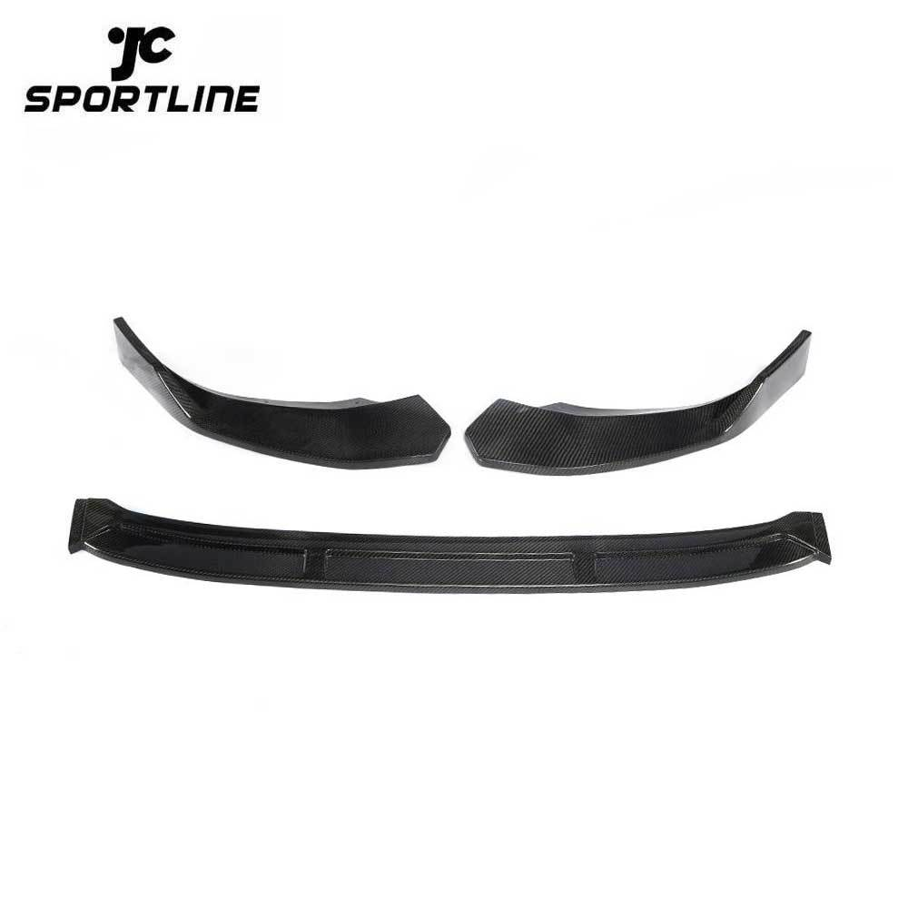 JC-HLY319-CF Carbon Fiber S4 Car Splitter Front Lip for Audi S4 B9 A4 Sline 2019 B Style