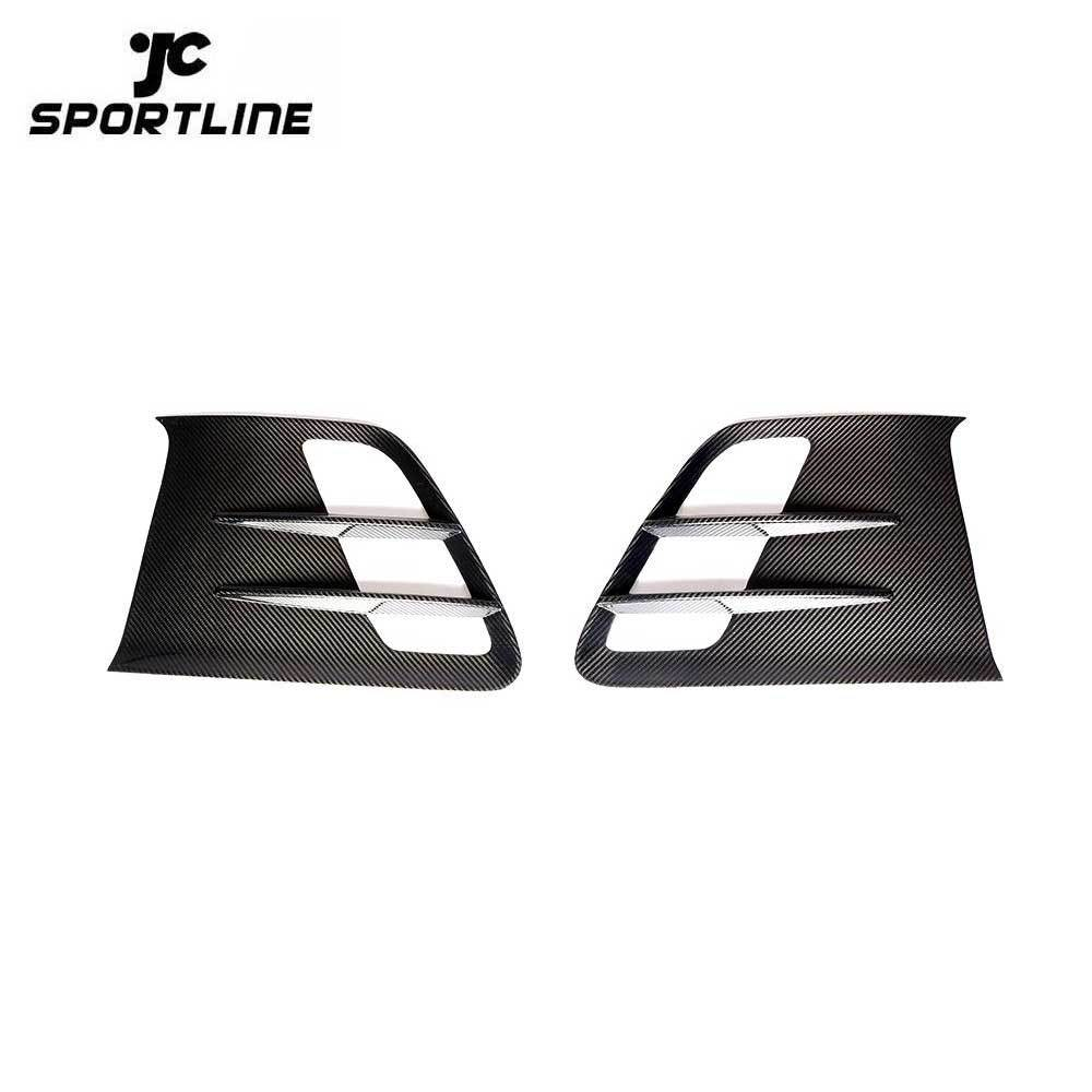 ML-YBX030 Dry Carbon Fiber C197 Car Fender Vents Scoop Trim for Mercedes Benz R197 SLS AMG GT 2010-2014