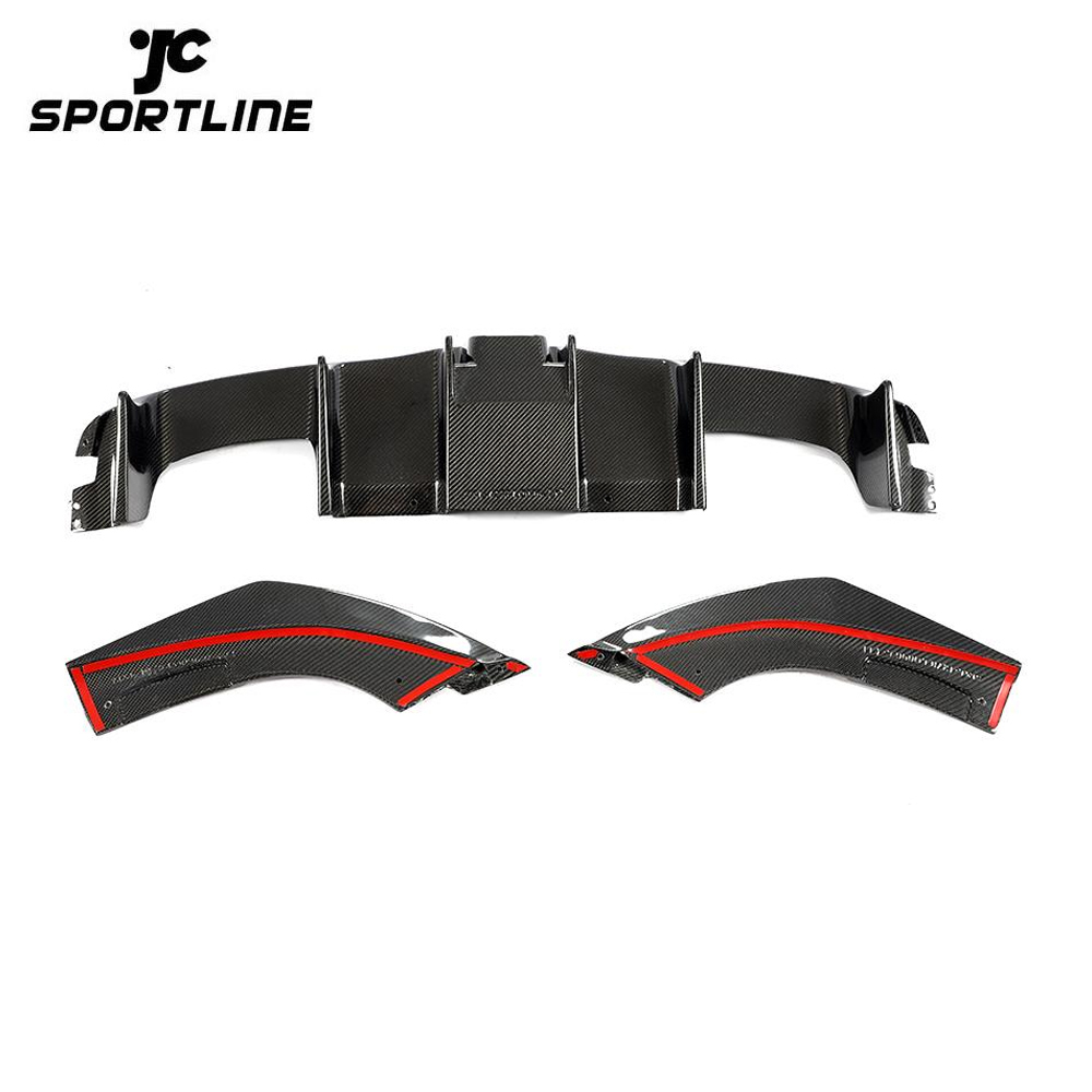 ML-LQ096 Carbon Fiber Rear Diffuser with LED Light for BMW M2 Coupe 2-Door 2016-2019
