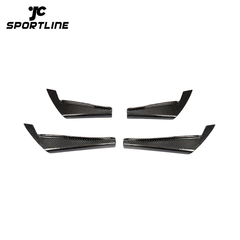 ML-ZDH110 Carbon Fiber Front Bumper Canards for Audi RS4 2017-2019