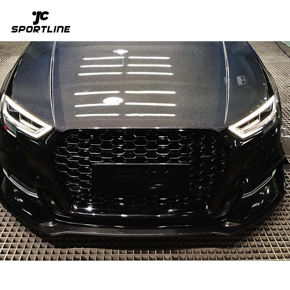 JC-WSM056  Carbon Fiber Front Lip for Audi A3 S-LINE S3