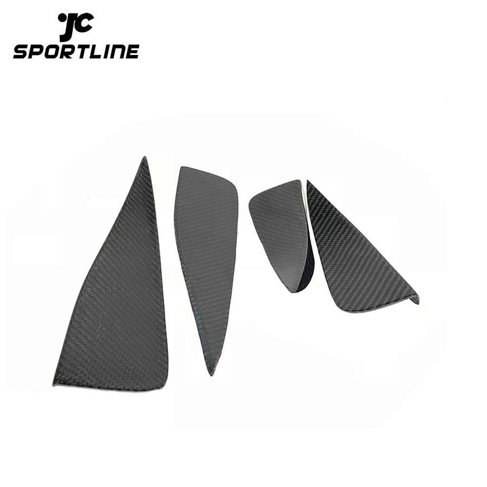 JC-WSM060  Carbon Fiber Front Bumper Fins for Audi A3 S-LINE S3