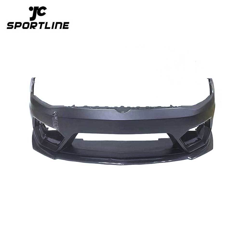 JC-WSM030 Car Bumper Body Kit with Carbon Fiber Front Lip Spoiler for VW GOLF 7 MK7 2014-2016