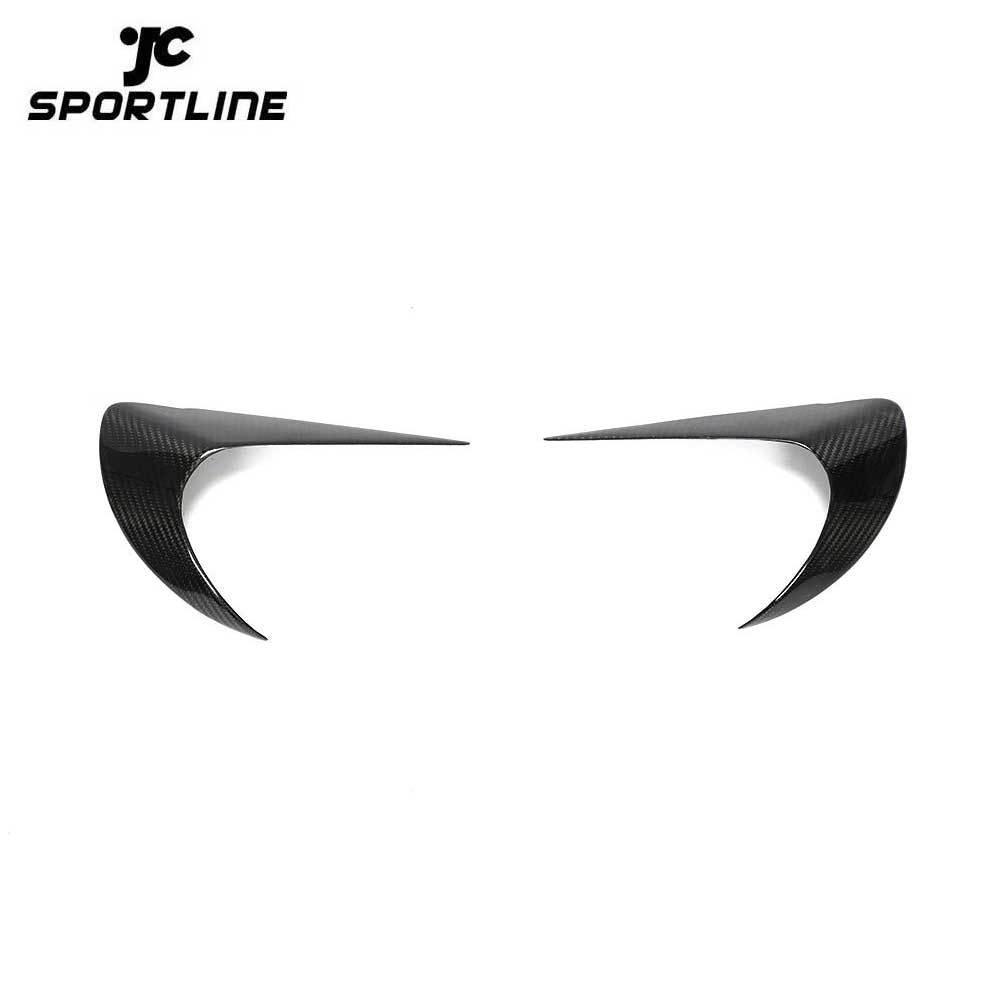 ML-XM388 Dry Carbon Fiber GT86 Car Headlight Eyebrows for Toyota 86 2017-2018 Base Coupe 2-Door/Subaru BRZ 2013-2018 Premium Coupe 2-Door
