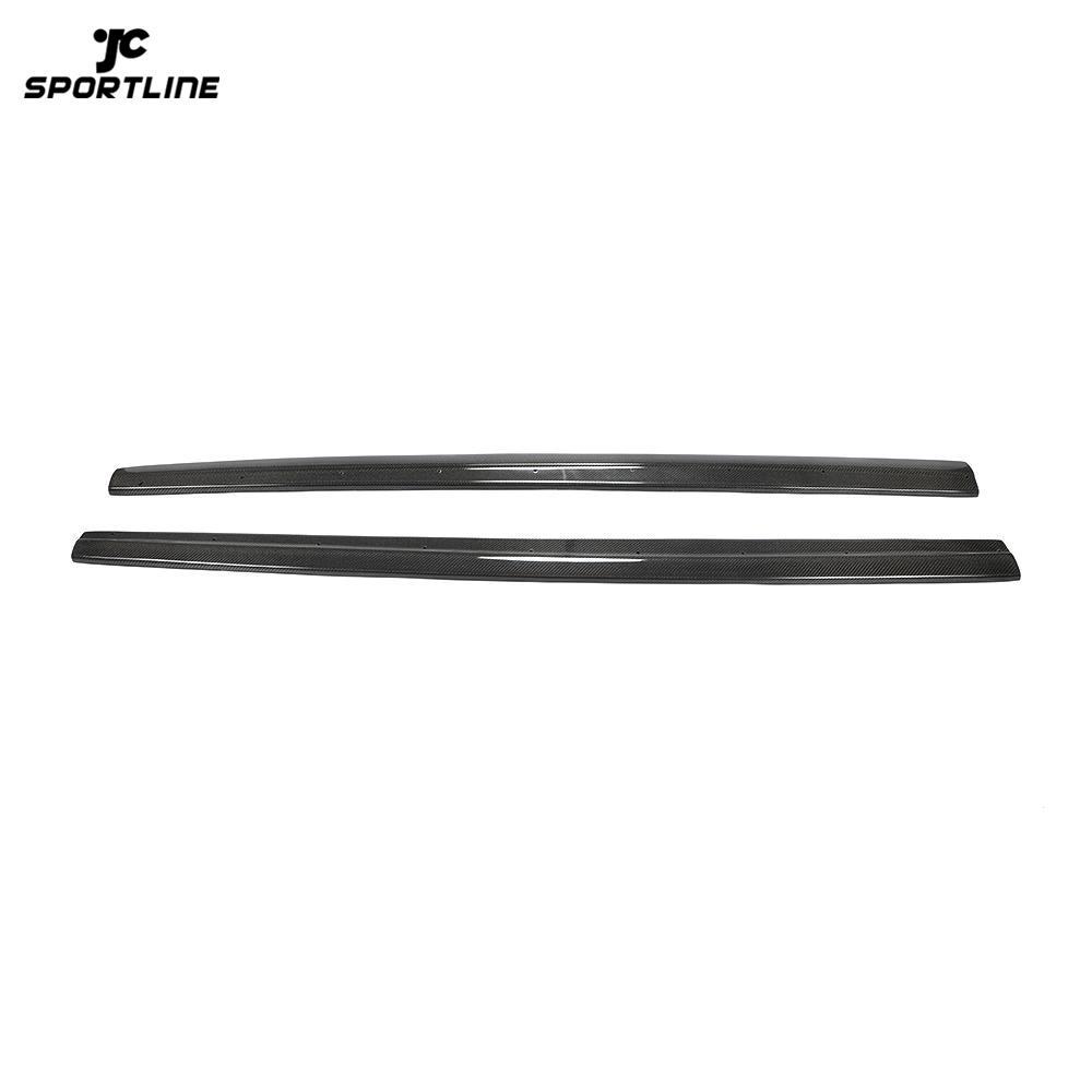 JC-WSM043 Carbon Fiber S3 Side Skirts Extension for Audi A3 8V SLINE S3 Sedan 4-Door 2013-2019