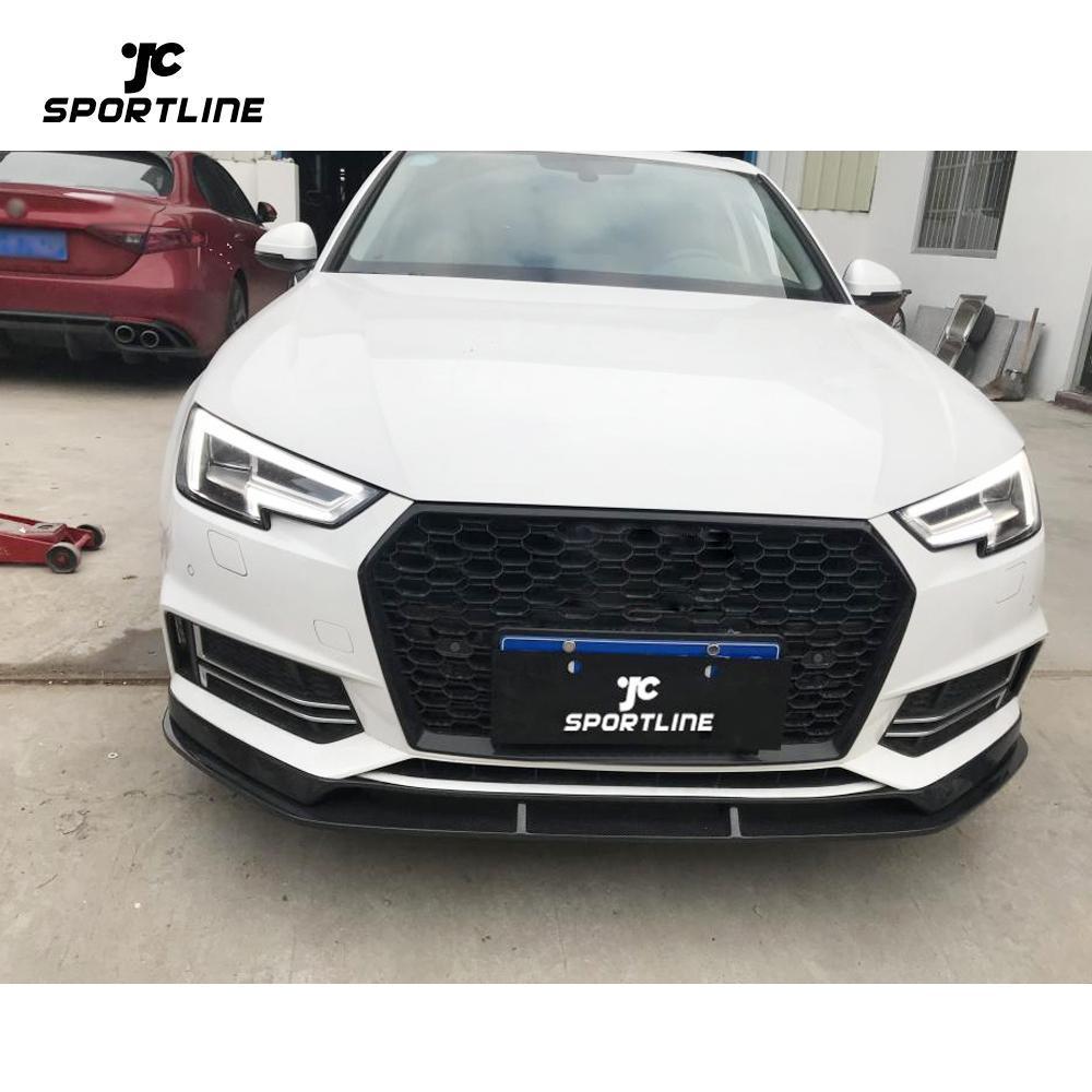 JC-WSM074  Carbon Fiber Front Bumper Lip for Audi A4 Quattro S4 Sedan 4-Door