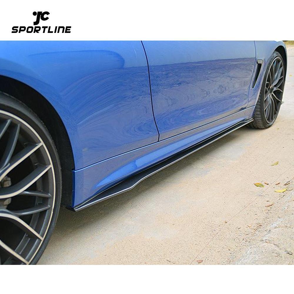 JC-WSM090 Side Skirts Body Kit Carbon Fiber For BMW 4 Series F32 435i 440i M-Sport 14-19