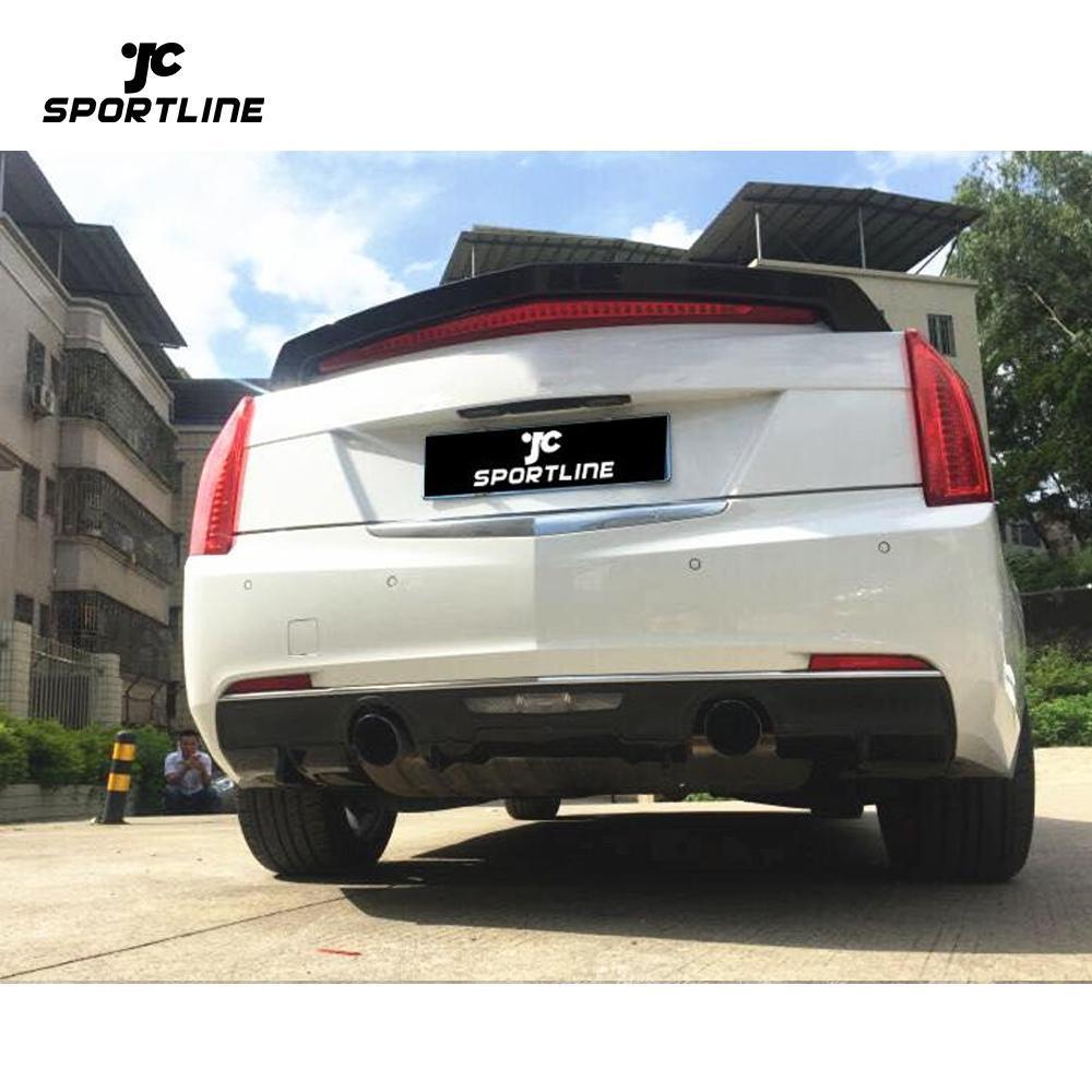 JC-WSM131 Carbon Fiber ATS Rear Diffuser Lip for Cadillac ATS Base Coupe 2-Door 14-19