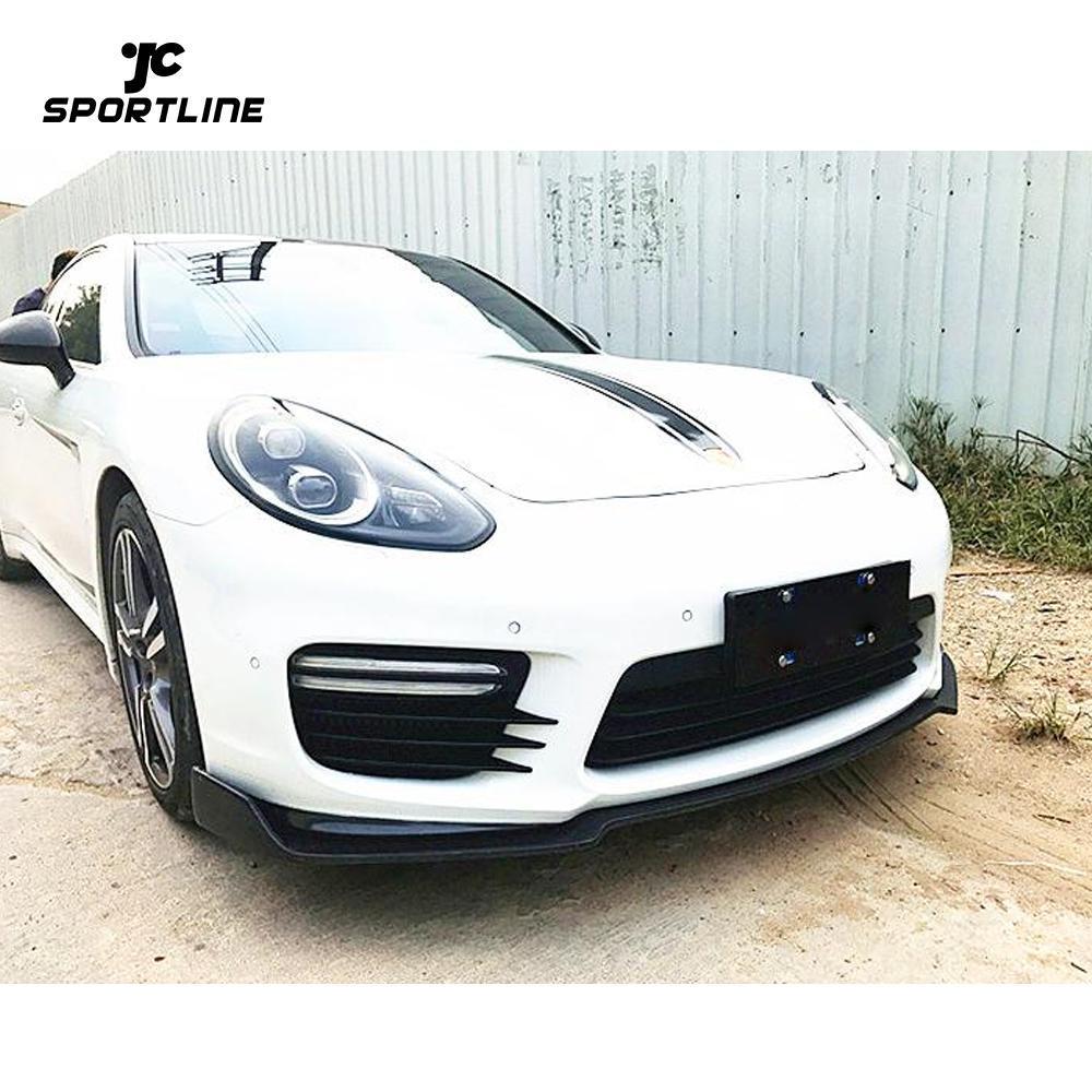 JC-WSM111  For Porsche Panamera 970 GTS Turbo S Hatchback 14-16 Carbon Fiber Front Bumper Lip Chin Spoiler Body Kit