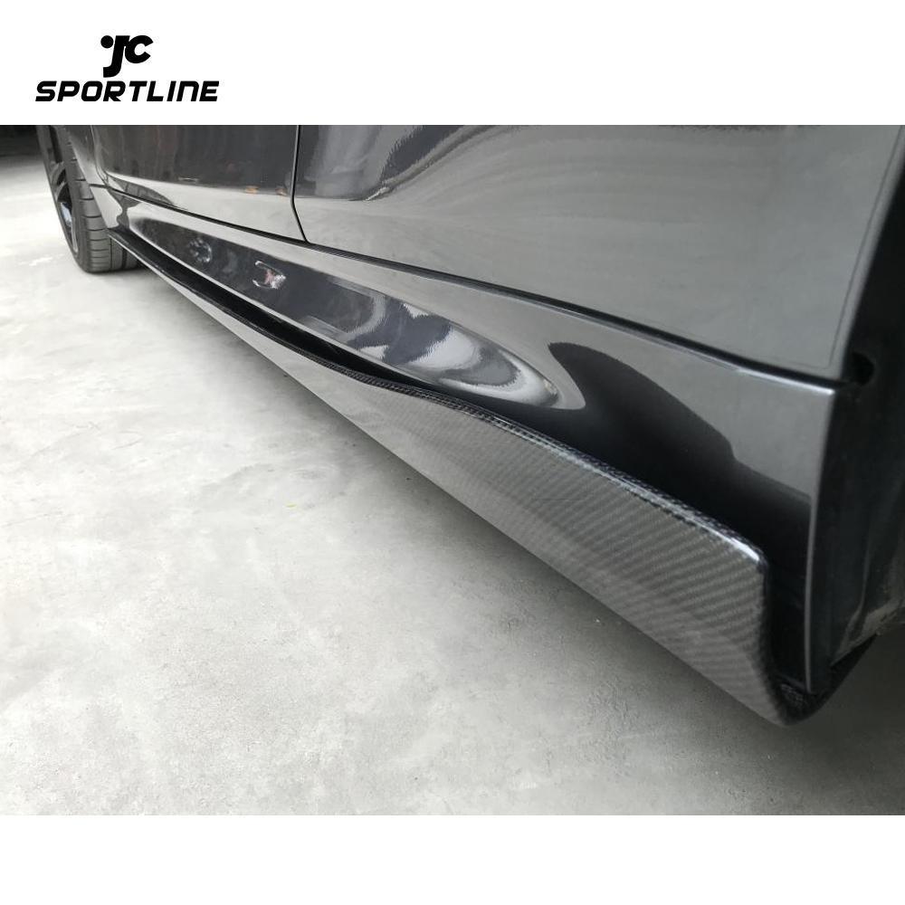 JC-WSM100 Carbon Fiber Side Skirts Extension Lip Spoiler Fit For BMW F82 F83 M4 2014-2019