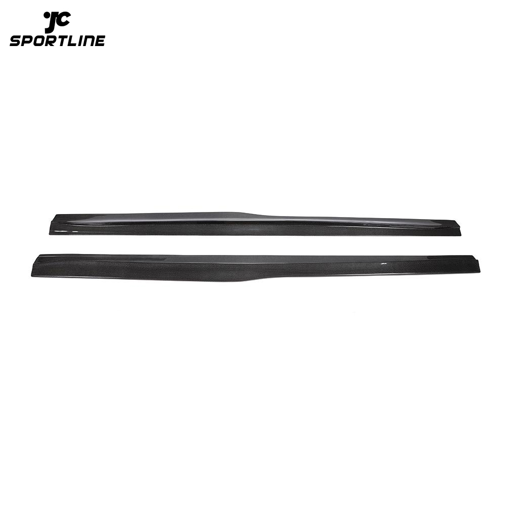 JC-WSM102 Carbon Fiber Side Skirts Extension Lip Spoiler Fit For BMW F82 F83 M4 2014-2019
