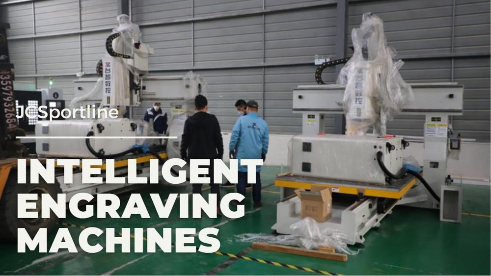 New equipment of JCSportline! Two intelligent engraving machines