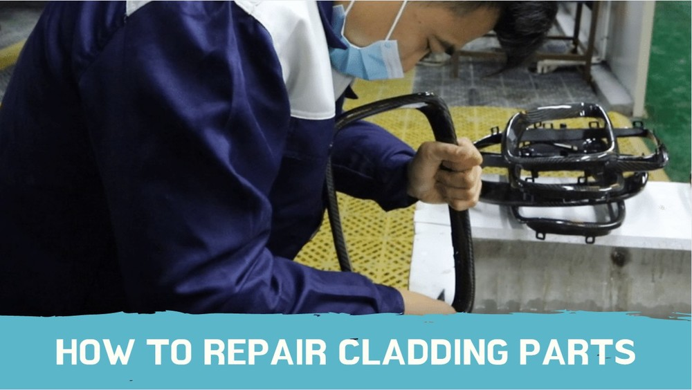 How to repair cladding parts