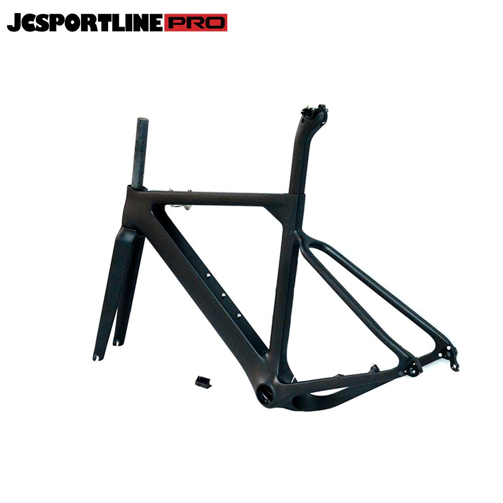 JC-CX-039  Carbon 27.5er Gravel Bike Frame Carbon Fiber Racing Bike Frameset with Stem For BB86