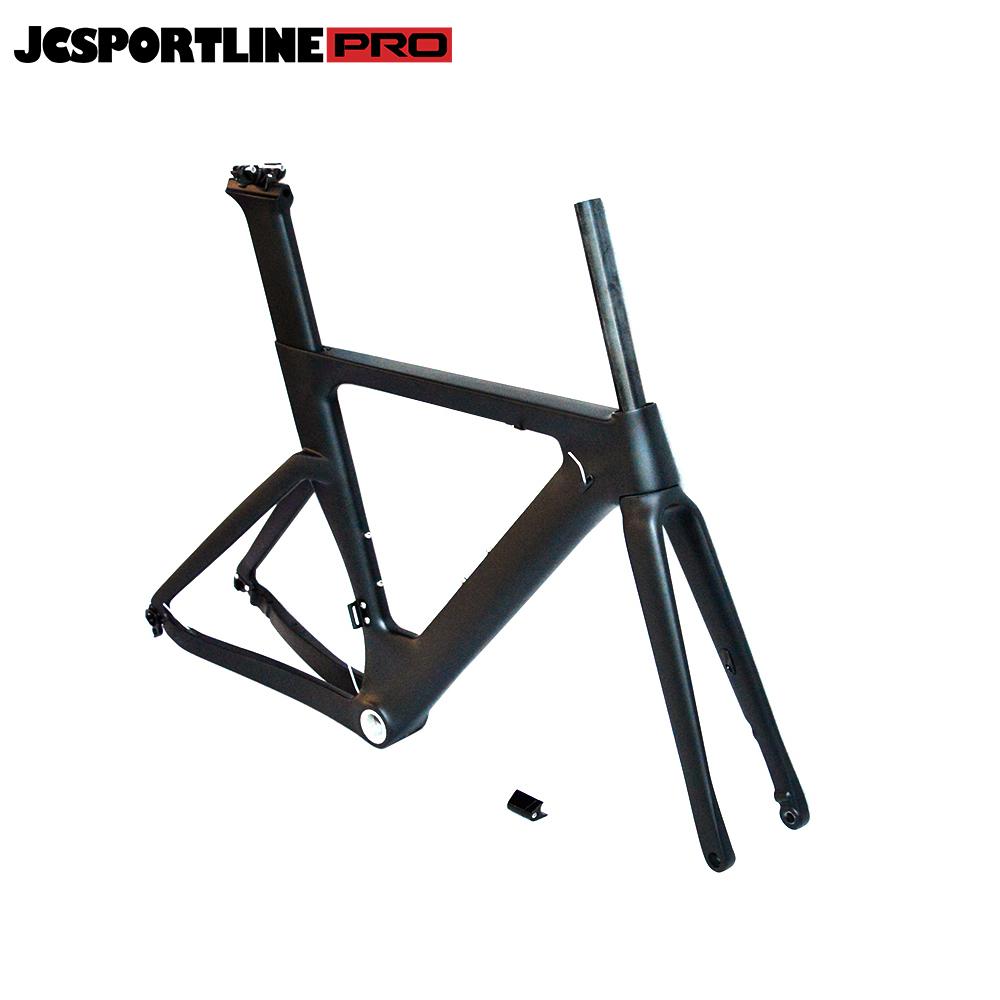 JC-Road-075  Carbon Road Bike Frame Carbon Fiber Racing Bike Rigid Fork and Frameset with Stem  D-brake