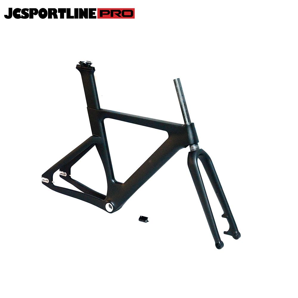 JC-TR-045  Carbon Track Bike Frame Carbon Fiber Racing Bike Frameset with Stem for BSA