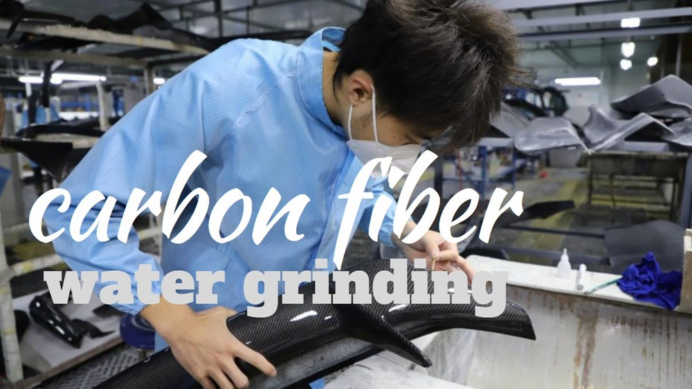 Jcsportline daily working of carbon fiber water grinding
