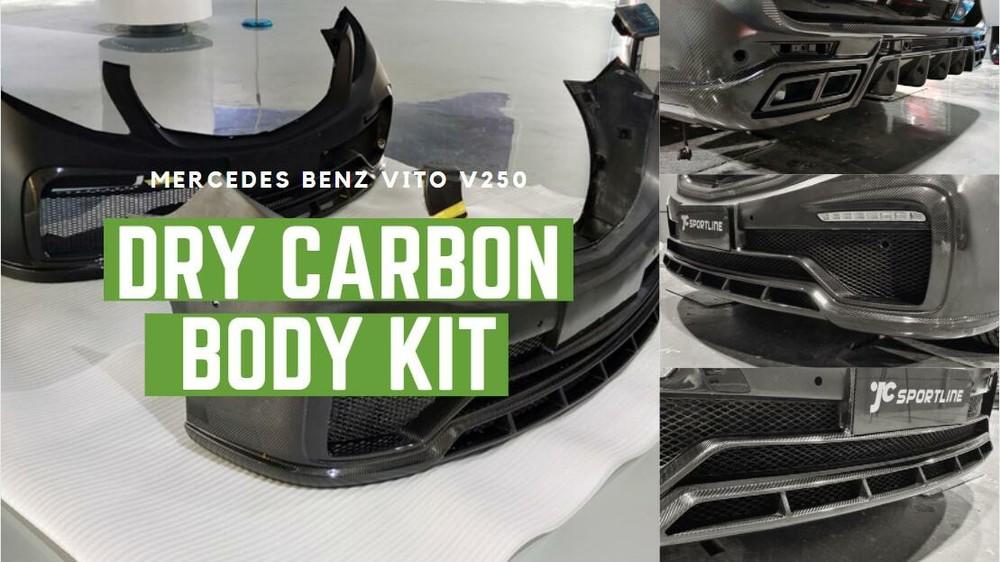 How to install vito v250 dry carbon body kit !
