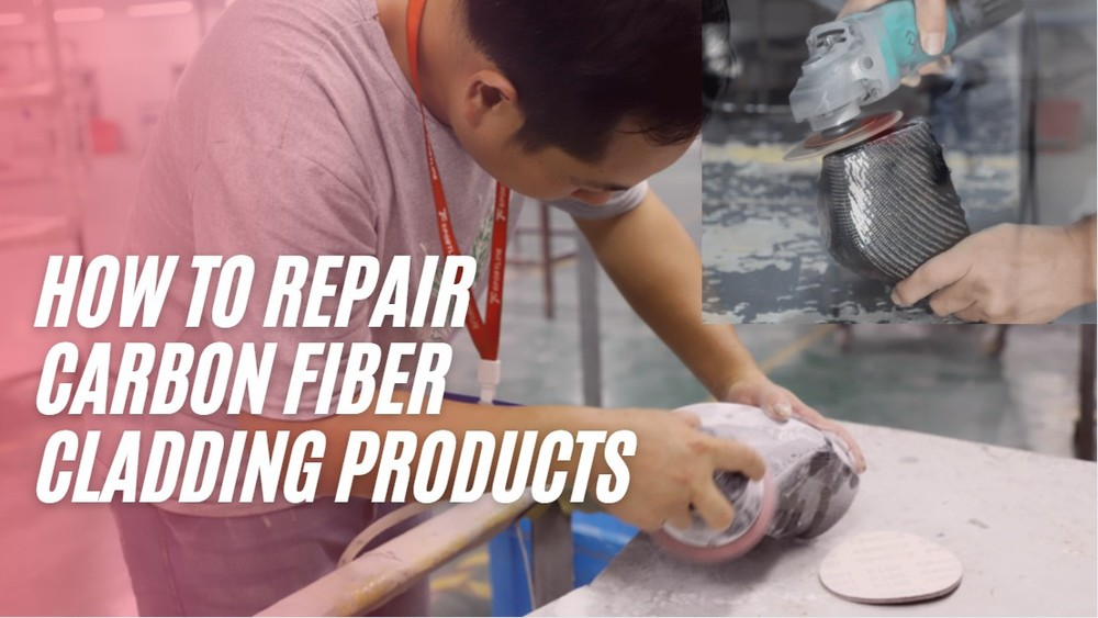 How to repair carbon fiber cladding products